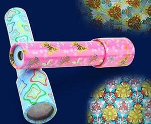 Большой вращающийся калейдоскоп волшебный и изменчивый внутренний вид калейдоскоп с бумагой