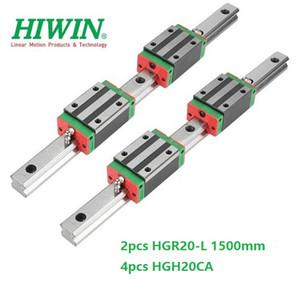 2 pz Originale Nuovo HIWIN HGR20 - 1500mm guida lineare / guida + 4 pz HGH20CA blocchi stretti lineari per parti del router di cnc