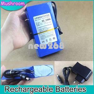 Freeshipping Alta Qualidade DC Portátil 9800 mAh Bateria Recarregável 12 V Banco de Potência UE Plug EUA para Tablet PC GPS MID Câmera de CCTV