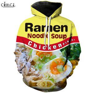 Fashion Street Gourmet Chicken Noodle Толстовка Мужчины Женщины 3D печати говядины Лапша с длинным рукавом с капюшоном Пальто Harajuku Пуловеры
