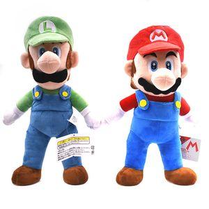 "2Styles Big Size 15""37cm Super Mario Bros Standing Mario&Luigi Plush Dolls Toy Stuffed Soft Supermario Peluche Doll Kids Gifts Y200703"