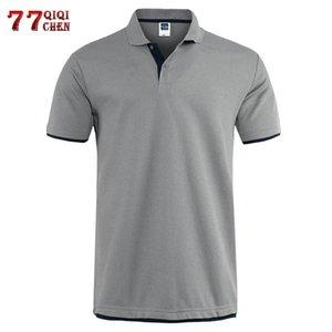 Classic Short Sleeve T shirt da Uomo Estate Casual T-Shirt Solid traspirante lusso cotone Tshirt maglie Golf Tennis Uomini Camisa Tops MX200508