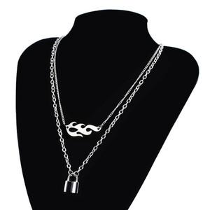 SG Harajuku Streetwear Punk Fiamma Lucchetto collana spine Wire Bramble Rock catena di Hip Hop collare per le donne accessorio di moda maschile