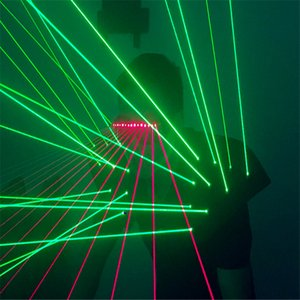 T19 Balo Salonu dans kostümleri lazer ışığı yelek sahne dj gece kulübü lazer gözlük giyer kostümleri lazer adam projektör giysi yelek performans dj
