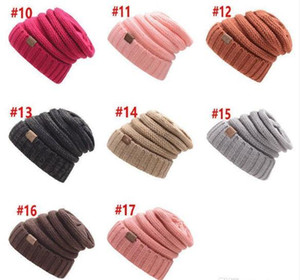 Parents Kids Knitted Hats Baby Moms Winter Knitted Hats Warm Trendy Beanies Crochet Caps Outdoor Slouchy Beanies 2019
