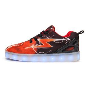 Nuevos recargables USB LED de Niños Zapatos de las muchachas de los zapatos ocasionales de iluminación Light Up mujeres hombres niños que brilla flash Moda Zapatos