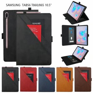Double bracket PU Leather Tablet Case for Samsung Galaxy Tab S6 T860 10.5  T510 T515 Tab S5e T720 T725 T590 P200 T290 T387 T820 T830