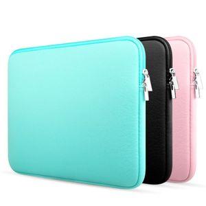 Ordinateur simple paquet de couleur pure veste d'ordinateur portable Ordinateur portable sacs 11 12 13 14 15 15.6 pouces 12xcb E1