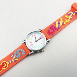 enfants orange acheter montre à quartz en ligne pour les enfants de filles mignonnes montre