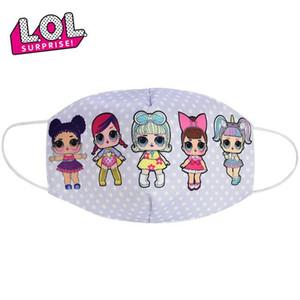 Accesorios de moda para niños máscaras lindas muñecas La mitad de mufla de la mascarilla del algodón para niños muñecos de dibujos animados de la boca a prueba de polvo Máscaras Máscaras transpirables poplular