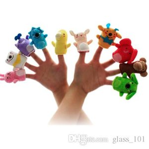 5pcs lot Animals Cartoon Baby Gift Finger Puppet Plush Toys Dolls Child Baby Favor Finger Doll
