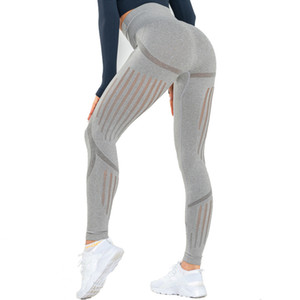 Binand Slim Fit Gym Energia Donne BuLifting vita alta Sport Leggings fitness pancia controllo pantaloni di yoga