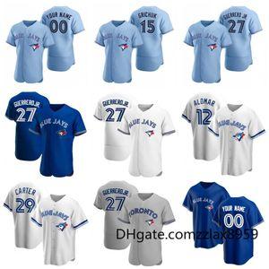 Toronto Jersey Blue Jays Vladimir Guerrero Jr. Bo Bichette Randal Grichuk Justin Smoak Roberto Alomar Lourdes Gurriel Jr Beyzbol Formalar