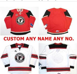 mulheres costume Homens Jovens Vintage # Customize QMJHL Quebec Remparts Branco Red Hockey Jersey tamanho S-5XL ou personalizado qualquer nome ou número