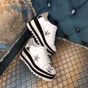 Sapatos reais! 2019 Derbys Box Sapatos Stella Britt New Elyse Shoes Flat Genuine Leather Wedge Plataforma escovada Casual com FlatForm Qibgn