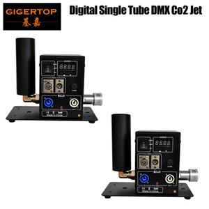 İyi Kalite 2XLOT Tek Yan Boru CO2 Makinası Taşınabilir Sahne Efekt Ekipmanları Con dışarı / içinde Gücü Ayarı Jet LCD DMX Dijital Adres Salıncak