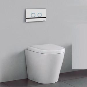sensor pegado a la pared cuelgue fijado en pared del inodoro montado sartén certificado de marca de agua penumatic caja empotrada doble descarga botón oculto cisterna del inodoro