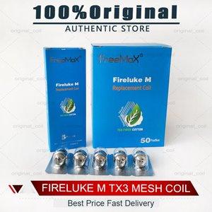 100% autêntico Fireluke M TX Malha Bobina Tea Fibra de Algodão TX1 TX2 TX3 TX4 TNX2 Núcleo de Fireluke 2 Tanque Twister 80W Kit