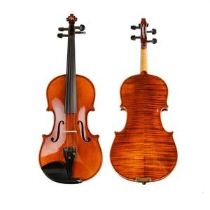 Performance Handmade Violin Technology Pattern Tiger stripe 4/4 3/4 Adult Solid Wood Grading violino TL004-3 10 anni in legno