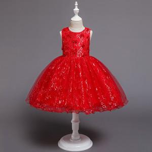 Lace garza vestito ragazza di fiore del pannello esterno versione coreana delle piccole medie figli principessa tutu abito da sposa senza maniche gonna