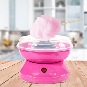 día del regalo del muchacho máquina portátil de algodón de azúcar Floss chica dulce eléctrico de bricolaje fabricante de dulces de algodón de los niños de la melcocha Máquina