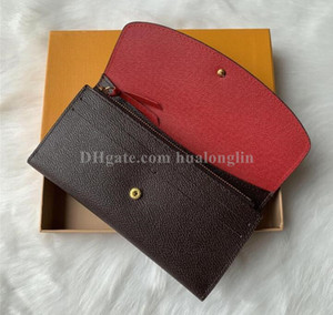 monedero carpeta de la mujer las mujeres la caja original de moda de alta calidad carteras envío libre
