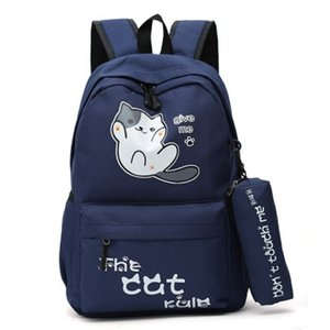 Style Cute Cat Backpacks Campus Students Girls School Bags For Boys Schoolbag Backpack Cartoon Bagpack Mochila Feminina Kids Bag