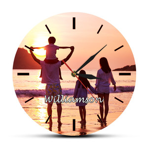 Custom Your Personal Photo Picture Printed Wall Clock Add Any Image or Text Full Color HD Printing Unique Design Special Gift 201202