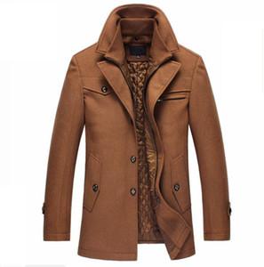 남성 완두콩 코트 Dropshipping 탱 새로운 겨울 양모 코트 슬림 맞는 재킷 망 캐주얼 따뜻한 겉옷 자켓 및 크기 M-4XL
