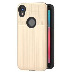 For Motorola E4 G5 S C PLUS Z2 X4 G6 E5 PLUS G4 Shockproof Protective Anti-Scratch Brushed Metal Combo Phone Case Cover