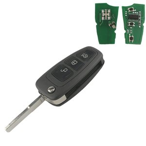 3 Buttons Flip Folding Remote Car Key For Fawkes 3 For Focus Mk1 Fiesta 2013 433Mhz With 4D63 Chip HU101 Blade ASK