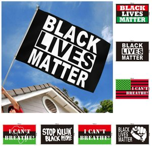 New Black lives matter flag I can't breathe flag get-together parade flag Festival and party parade supplies T9I00431