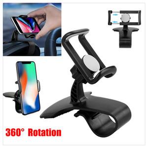 Carro HUD Painel Suporte Suporte de montagem Suporte para Universal Mobile GPS do telefone celular com rotação de 360 graus
