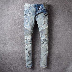 2020 hot Mens luxury designer jeans pour hommes Slim Fit Motorcycle Biker Denim For Men Fashion Designer Hip Hop mens designer swim shorts