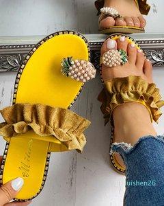 Litthing Fruit Women Slippers Summer Non-slip Platform Shoes Wedges Woman Outdoor Beach Slippers Sandals Sapato Feminino AL26