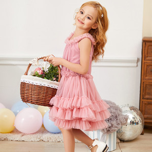 Fleck Dolly Gaze Princess Kleid Tutu Rock Pettiskirt Baby Geburtstagskleid Fairy Fairy Dress Girl's Rock