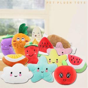 Banana Moon Star pastèque carotte en peluche légumes et de fruits farcis classiques cadeau interactif doux Pet Teething Molar jouets pour enfants