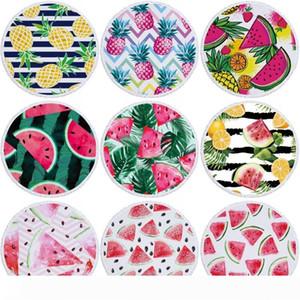 Summer Beach Towel Watermelon Pineapple Print Beach Blanket Polyester Picnic Tapestry Yoga Mat 150cm Beach Shawl