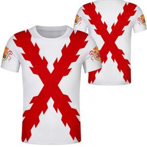 ИСПАНИЯ ИМПЕРИЯ футболка бесплатно на заказ имя испания империо футболка бордовый испано-католическая монархия принт флаг крест одежда