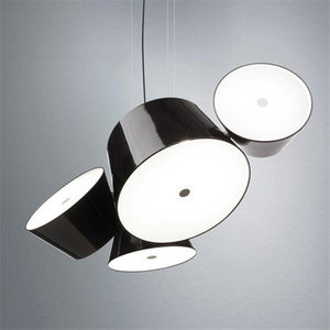 Modern Metal Glass Drum Pendant Lamp Shade Color Can Freely Combined Home Living Room Decor PA0586