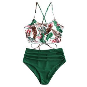 2020 Mulheres Sexy Bikini Set Tankini Female Swimsuit Swimwear Swim separar duas Piece Set de banho Brasileiro Suit