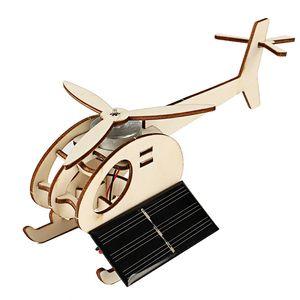 DIY 기술 미니 솔라 항공기 재미있는 발명 학생 지능의 호환 조립 모델 장난감 완구 어린이를위한