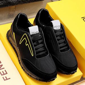 Fendi Мужская мода Обувь Luxury Design Black Scuba Low-Tops кроссовки Спорт Дышащие Стиль Zapatos пункт HOMBRE Lace-Up Мужская обувь Повседневная Тип F55