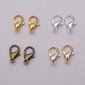 DIY 1000PCS Clases de langosta para pendientes de collar Pulsera Joyas al por mayor 12 * 6mm Aleación Hallazía Hallazgos Componentes