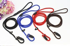 Nylon Rope Dog whisperer Cesar Millan style Slip Training Leash Lead and Collar Red Blue Black Colors