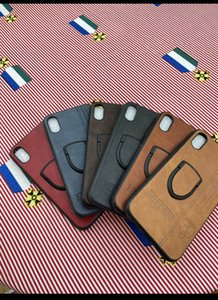 In stock iphone 11pro mobile phone shell x xr 2020 leather case iphone6s 7 anti-fall skin protection bracket protective shell