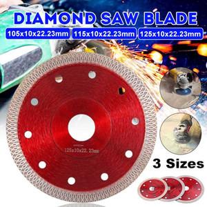 DOERSUPP 105/115 / 125mm presurizado en caliente sinterizado hoja de sierra de diamante de corte de malla Turbo Disco Disco de diamante para el revestimiento de porcelana, cerámica