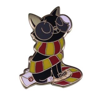 Broche de gato mago de Jackson bonito broche de bruxaria mágica HP jóias inspiradas