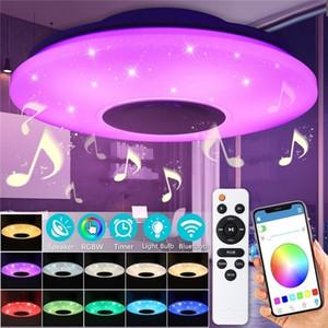 Bluetooth Hoparlör, kısılabilir, Multicolor, APP Kontrol Uzaktan Kumanda, 60W Akıllı Tavan Işık (WiFi + Bluetooth Hoparlör ile WiFi Tavan Lambası