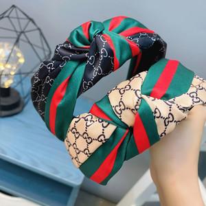 Дизайнер G шелк эластичный письмо оголовье для женщин мода известный бренд ленты для волос Для женщин девушка ретро тюрбан горячие продажи лучшие головные уборы подарки